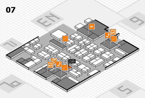 MEDICA 2016 hall map (Hall 7): stand D29