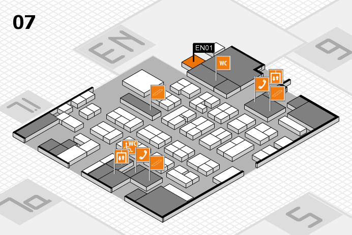 MEDICA 2016 hall map (Hall 7): stand EN01