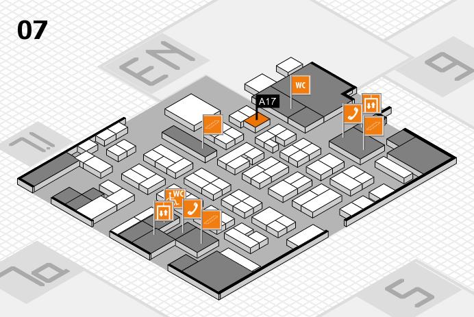 MEDICA 2016 hall map (Hall 7): stand A17