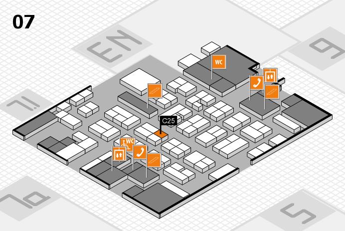 MEDICA 2016 hall map (Hall 7): stand C25
