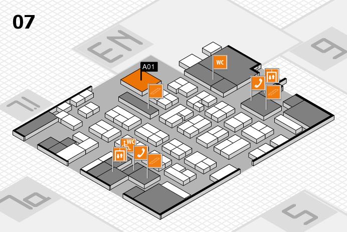 MEDICA 2016 hall map (Hall 7): stand A01