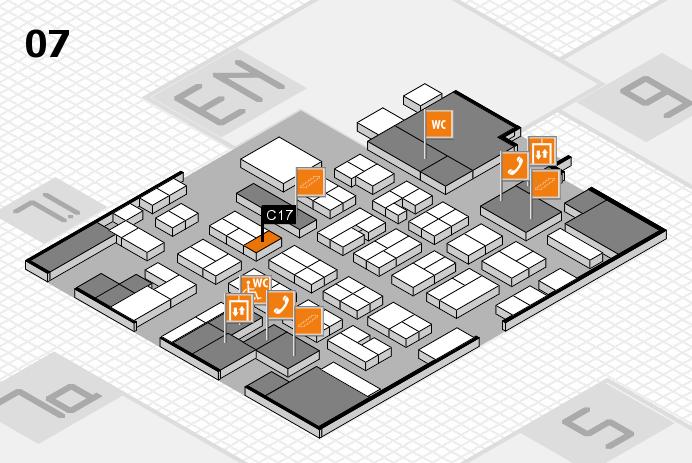 MEDICA 2016 hall map (Hall 7): stand C17