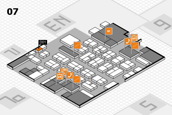 MEDICA 2016 hall map (Hall 7): stand D01