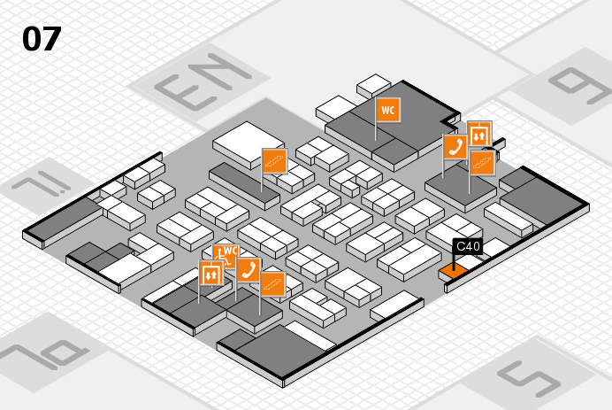 MEDICA 2016 hall map (Hall 7): stand C40