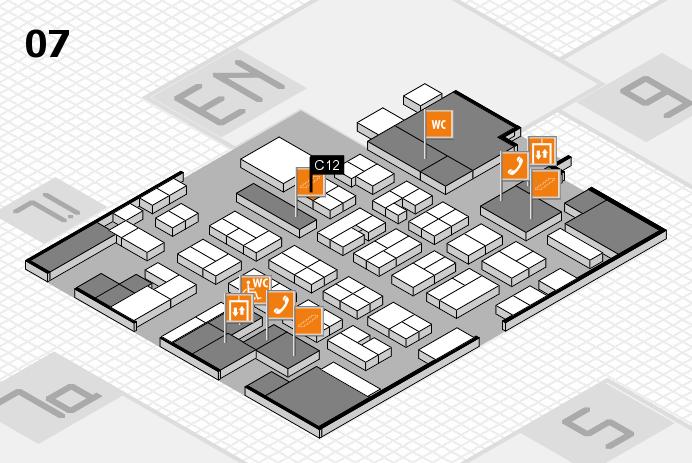 MEDICA 2016 hall map (Hall 7): stand C12