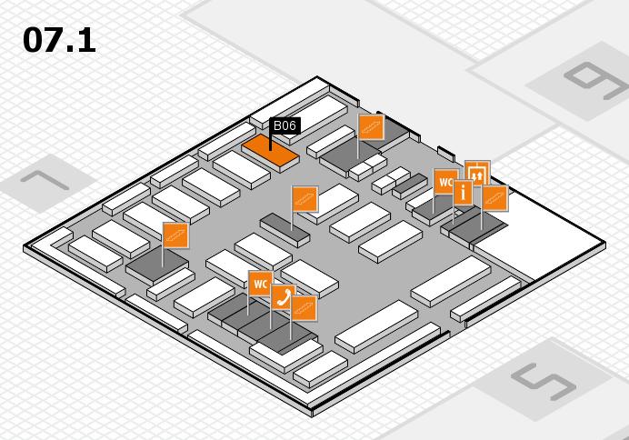 MEDICA 2016 hall map (Hall 7, level 1): stand B06