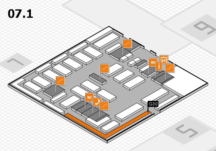 MEDICA 2016 Hallenplan (Halle 7, Ebene 1): Stand G30