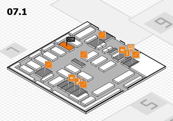 MEDICA 2016 hall map (Hall 7, level 1): stand C06