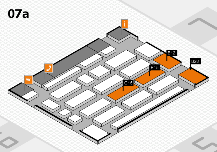 MEDICA 2016 hall map (Hall 7a): stand B12, stand C15