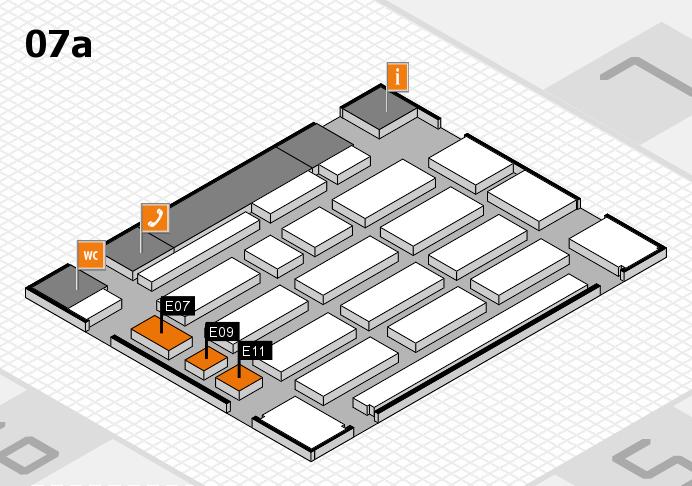 MEDICA 2016 hall map (Hall 7a): stand E07, stand E11