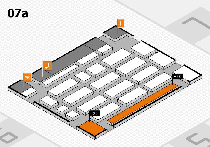 MEDICA 2016 hall map (Hall 7a): stand E25, stand E30
