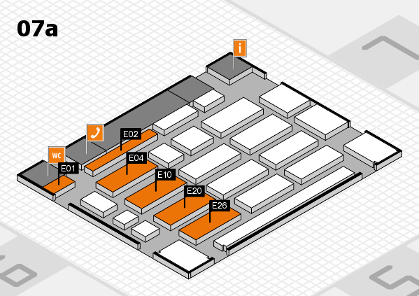 MEDICA 2016 Hallenplan (Halle 7a): Stand E01, Stand E26
