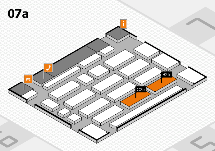 MEDICA 2016 hall map (Hall 7a): stand B25, stand C25