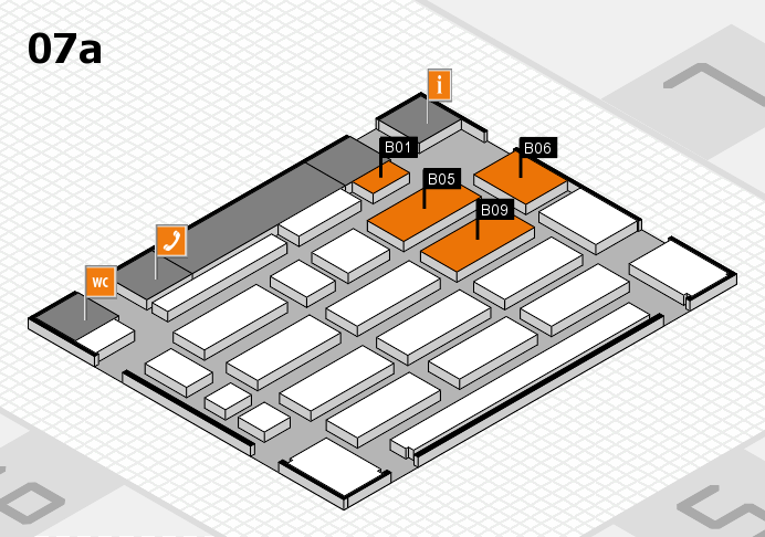 MEDICA 2016 hall map (Hall 7a): stand B01, stand B09