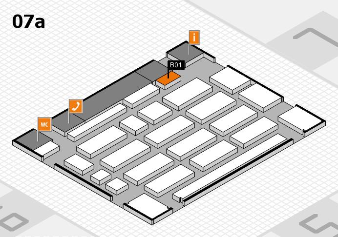 MEDICA 2016 hall map (Hall 7a): stand B01