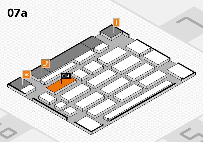 MEDICA 2016 hall map (Hall 7a): stand E04