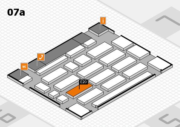 MEDICA 2016 Hallenplan (Halle 7a): Stand E20