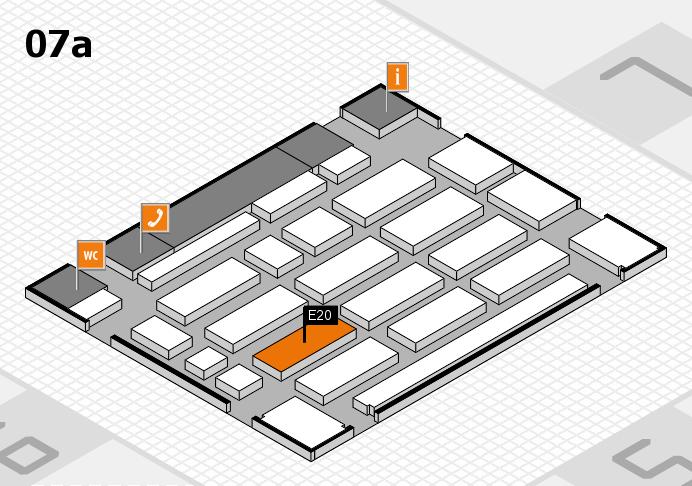 MEDICA 2016 hall map (Hall 7a): stand E20