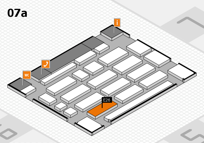 MEDICA 2016 hall map (Hall 7a): stand E26