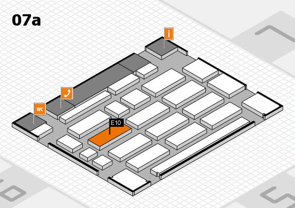 MEDICA 2016 hall map (Hall 7a): stand E10