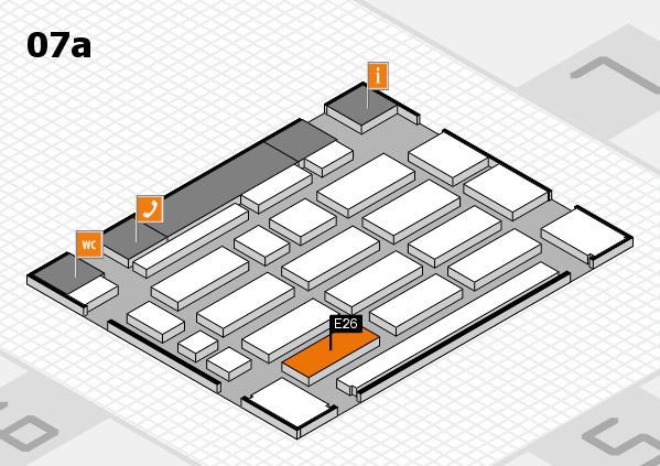 MEDICA 2016 Hallenplan (Halle 7a): Stand E26