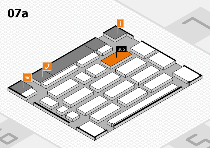MEDICA 2016 hall map (Hall 7a): stand B05