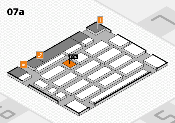 MEDICA 2016 hall map (Hall 7a): stand D04