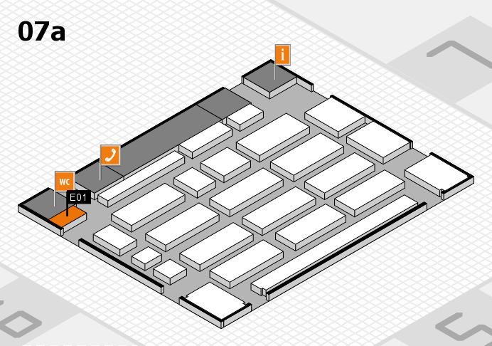 MEDICA 2016 hall map (Hall 7a): stand E01