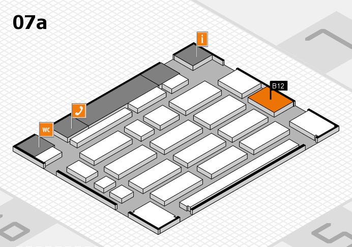 MEDICA 2016 hall map (Hall 7a): stand B12