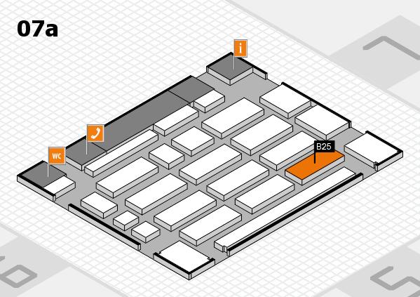 MEDICA 2016 hall map (Hall 7a): stand B25