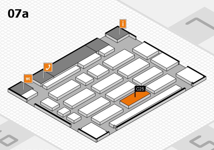 MEDICA 2016 hall map (Hall 7a): stand C25
