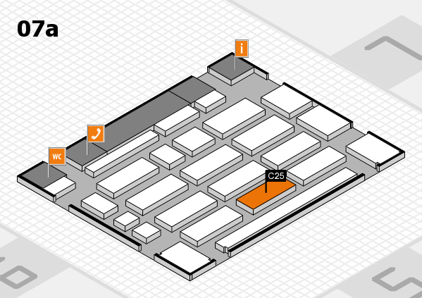 MEDICA 2016 hall map (Hall 7a): stand C25