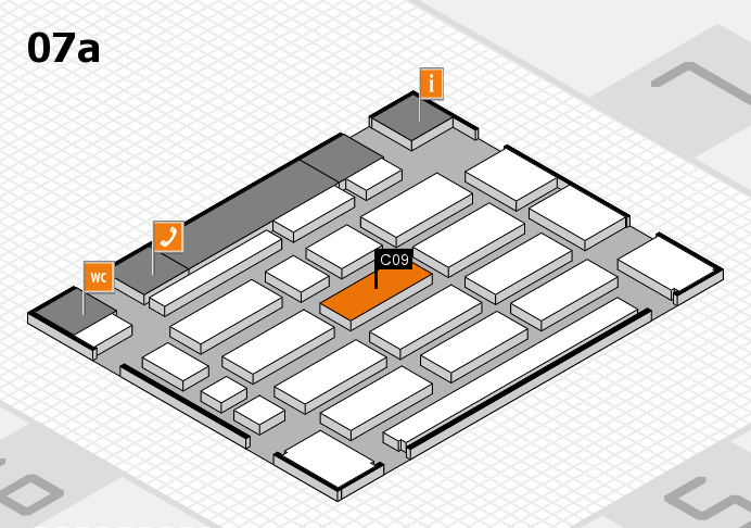 MEDICA 2016 hall map (Hall 7a): stand C09