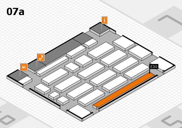 MEDICA 2016 hall map (Hall 7a): stand E30