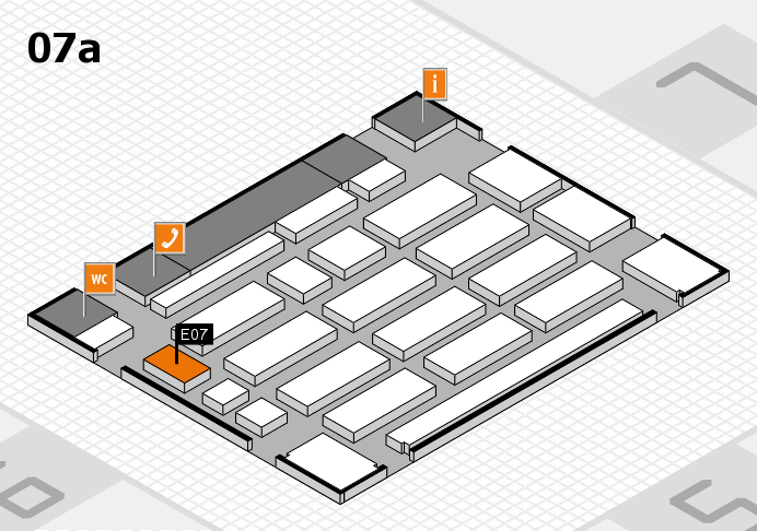 MEDICA 2016 hall map (Hall 7a): stand E07