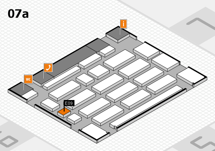 MEDICA 2016 hall map (Hall 7a): stand E09