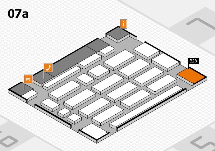 MEDICA 2016 hall map (Hall 7a): stand B28