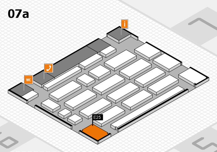 MEDICA 2016 hall map (Hall 7a): stand E25