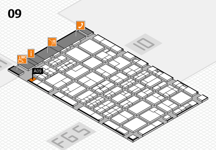 MEDICA 2016 hall map (Hall 9): stand A09