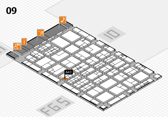 MEDICA 2016 hall map (Hall 9): stand A40