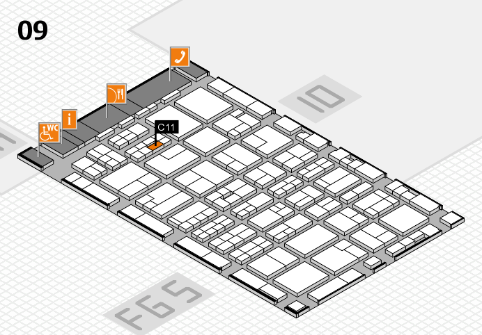 MEDICA 2016 hall map (Hall 9): stand C11