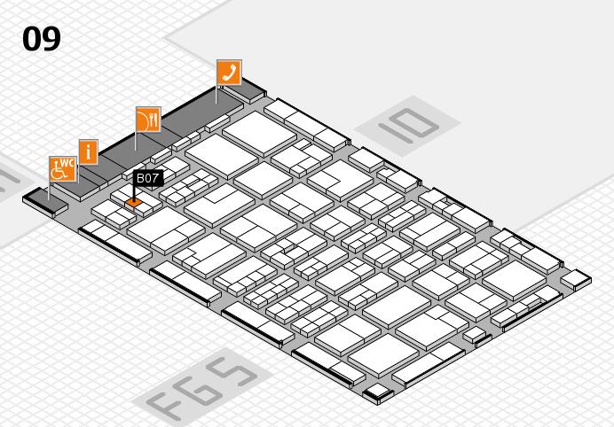 MEDICA 2016 hall map (Hall 9): stand B07