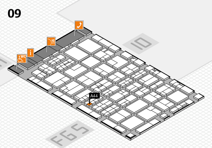 MEDICA 2016 hall map (Hall 9): stand A44