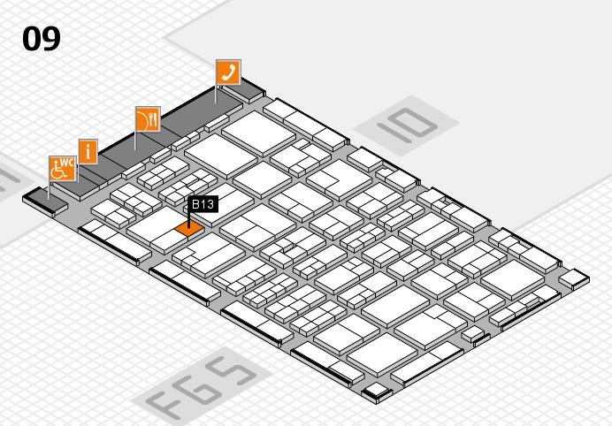 MEDICA 2016 hall map (Hall 9): stand B13