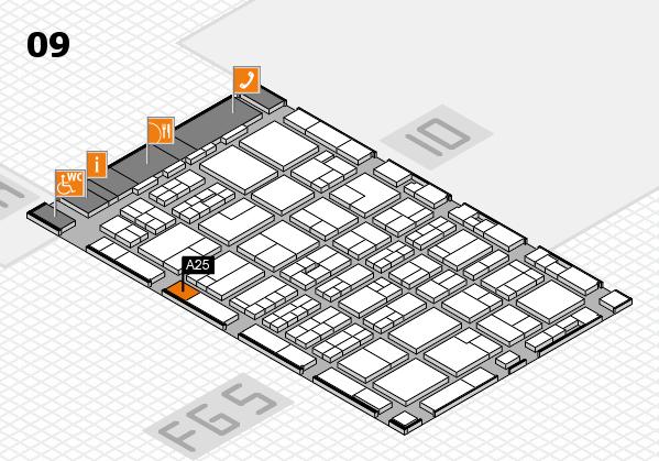 MEDICA 2016 hall map (Hall 9): stand A25