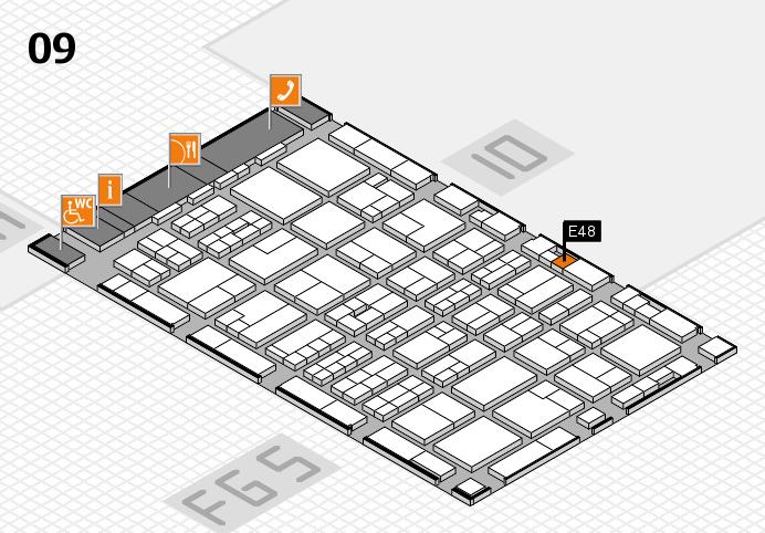 MEDICA 2016 hall map (Hall 9): stand E48