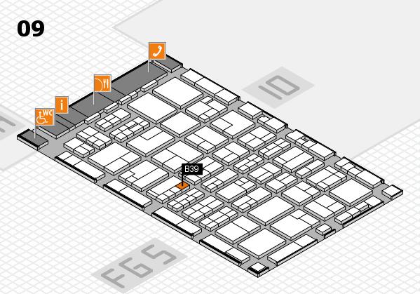 MEDICA 2016 hall map (Hall 9): stand B39