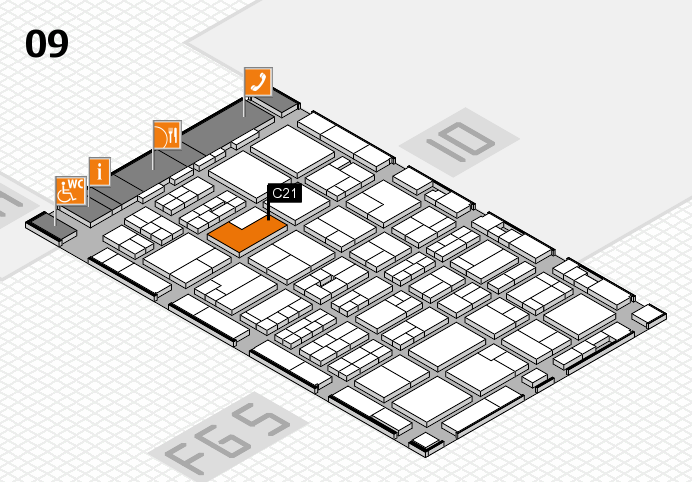 MEDICA 2016 hall map (Hall 9): stand C21