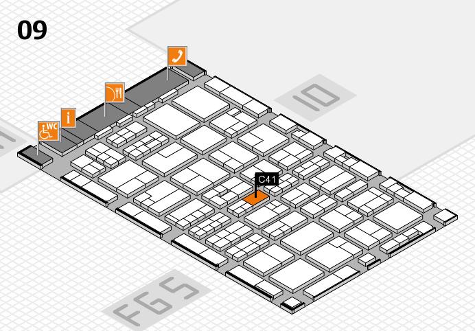 MEDICA 2016 hall map (Hall 9): stand C41