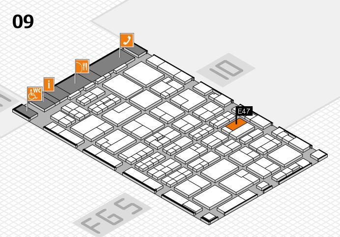 MEDICA 2016 hall map (Hall 9): stand E47